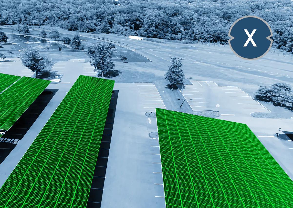 Photovoltaik Carport Überdachung - Bild: Xpert.Digital